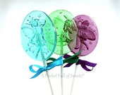 Fairy Birthday Party, Fairy Garden Party, Fairy Baby Shower, Enchanted Forest Party, 8 FAIRY Lollipops, Barley Sugar Hard Candy