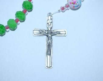 Green Glass Rosary