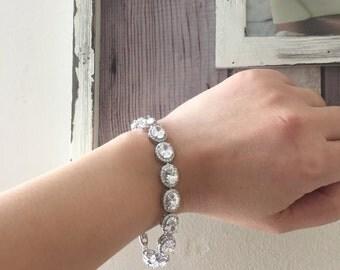 Divine Bridal Oval Bracelet