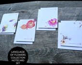 Language of Flowers Collection Notecard Set (4)