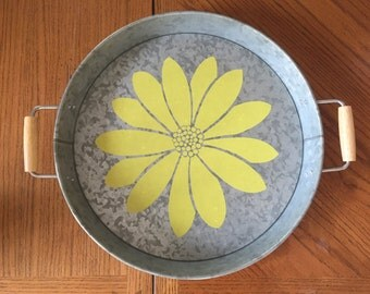 Metal Serving Tray; Circle Serving Tray; Rectangle Serving Tray