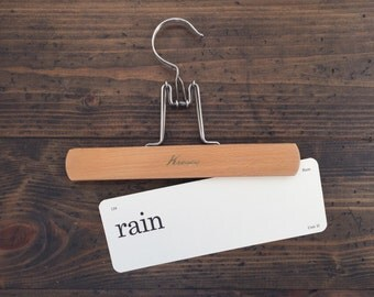 vintage flash card • rain | Dick and Jane flashcard