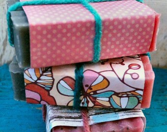 Mini Razzle Frazzle Soap | Gardening Soap | Exfoliating Soap |Cold Process Soap | Raspberry Scented Soap | Best Soap for Kids | Blueberry