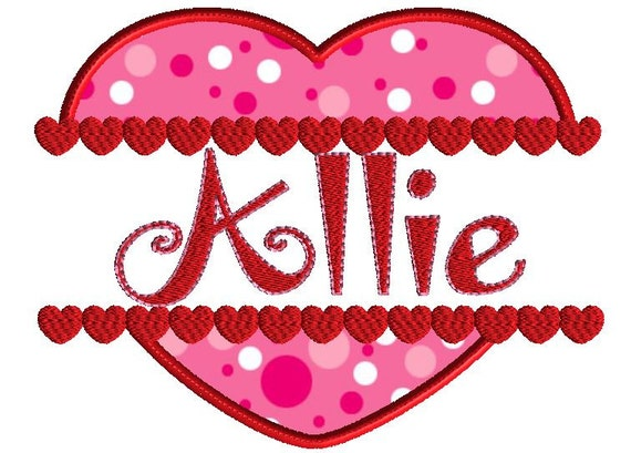 monogram frame valentine embroidery design split heart applique 3 size design no fonts included with this design from adelaidescorner on etsy studio