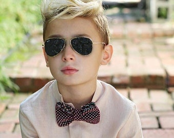 Kids Bow Ties/Hipster/handmade/Stylish/Maroon/Green/Blue/New Vintage