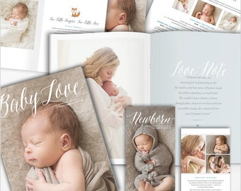 Photography Marketing Set - Newborn Photography Marketing Kit - BABY LOVE - 1553