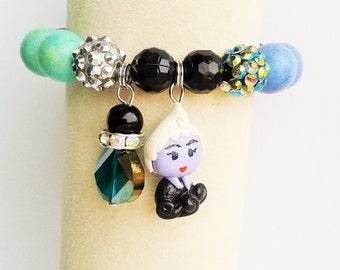 Ursula inspired bracelet (Ursula charm bracelet)