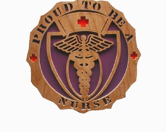 Proud To Be A Nurse Plaque Cut On Scroll Saw