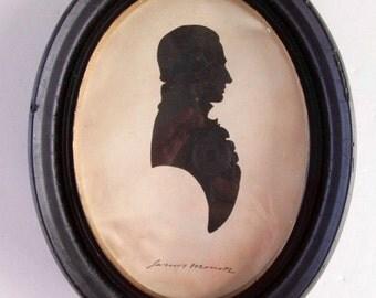 Vintage Silhouette of Pres. James Monroe