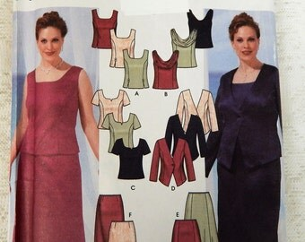 Simplicity Pattern 5973 Size 18W-24W Evening Jacket, Skirt and tops Uncut Free ship in US
