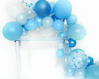 Balloon Garland Kit - Oceana - Shades of Blue Balloon Garland - Boy Party Balloons - Baby Shower Balloon Garland