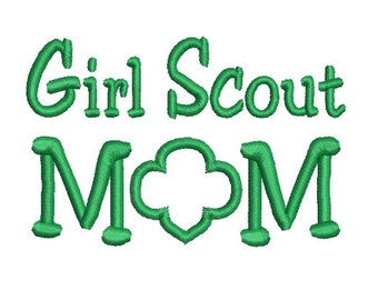 girl scout mom embroidery design