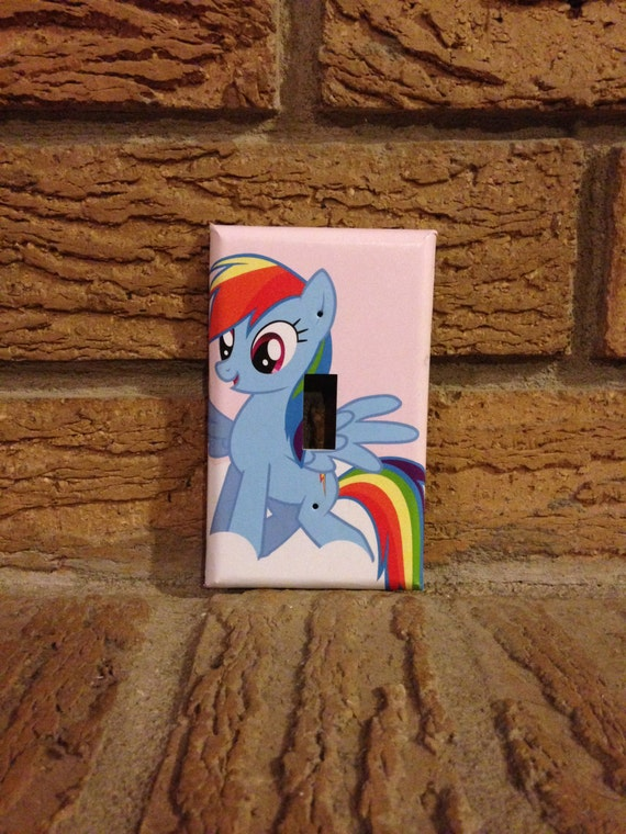 my little pony rainbow dash light switch place cover my. Black Bedroom Furniture Sets. Home Design Ideas