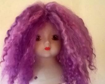 Mohair Pink Fizz Doll Wig