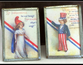 Vintage Brooches 4th of July