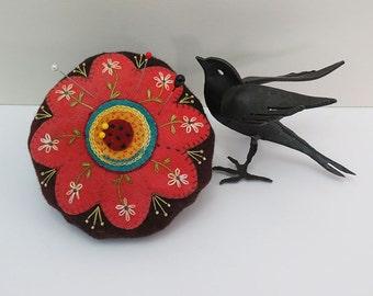 Flower Pincushion: A Wool Applique KIT