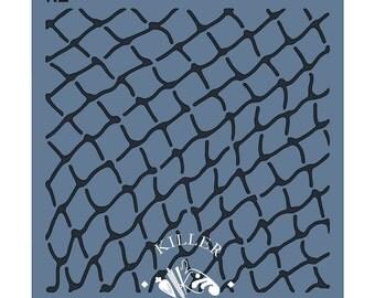 """Fishing Net 5.5"""" x 5.5"""" Stencil"""