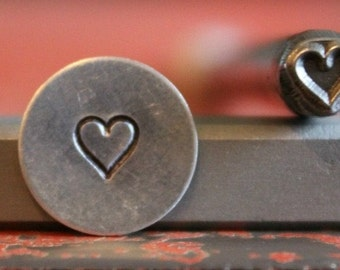 Heart Steel Stamp Perfect for Metal Stamping and Jewelry Design Work  SGM-1