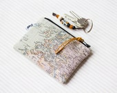 Small coin purse, world map change pouch, worldmap make up bag