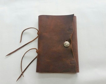 Rustic Leather Journal, Buffalo Nickel Journal, Blank Rustic Journal,  Southwestern Rustic Journal, Refillable Journal, Ranch Journal