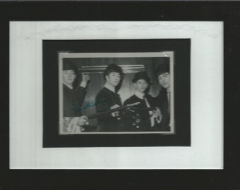 The Beatles Bubble Gum Trading Card, framed matted