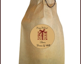 Christmas Wine Bag - Christmas Gift Bag