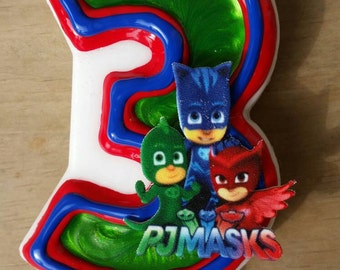 PJ Masks Birthday Candle, Owlette, Catboy, Gekko
