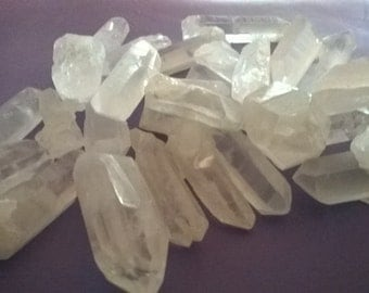 Quartz Points all natural raw quartz, copper wire wrapped quartz