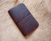 Chestnut Bison Simple Leather Notebook Cover