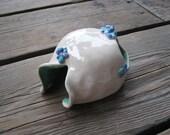 Tiny Betta Hide - Ceramic Aquarium Cave - Small Fish Tank Decorations - Terrariums and Vivariums - Little Faerie Garden House