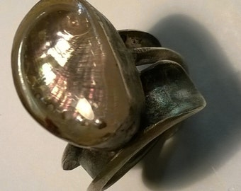 handmade Natulus, shell rings, Fibonacci ring.shipping free.