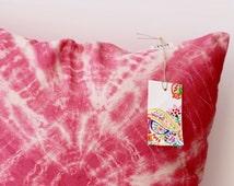 Tie-dye Pillow Cover, water melon  Linen Pillow Cover, Pale pink Linen Pillow Cover, Pillow Covers 20X20, Summer Sale