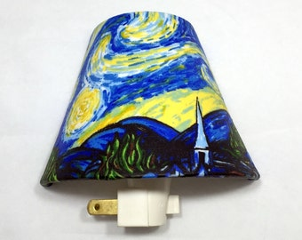 Starry Night Van Gogh Night Light / House Warming / Gift Idea / Bedroom /  Plug In Night Light / Home Decor / Famous Artists / Vincent