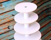 Cupcake Stand 5 Tier White Melamine Round Birthday Wedding Party Centerpiece Sweet Stands Dessert Display