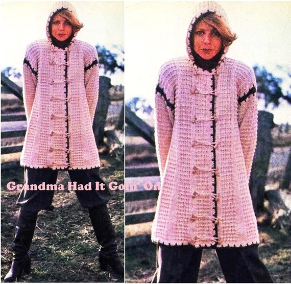 Womens Knitted Hooded Sweater Pattern Knitting Pattern