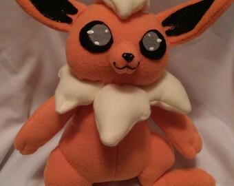 Flareon pokemon inspired plush