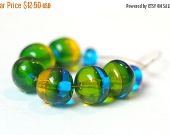 ON SALE Beads for Jewelry Glass Lampwork Beads Set Craft Supplies Jewelry Making