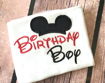 Mickey Mouse Birthday Boy Shirt, Disney Mickey Shirt