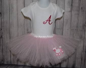 50's poodle skirt Birthday Halloween tutu poodle outfit