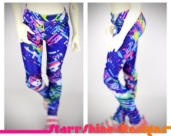 BJD MSD 1/4 Doll Clothing - 90s Abstract Leggings