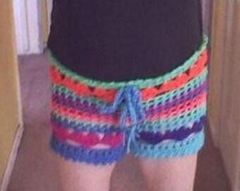 PDF Crochet Pattern Plus size l  Love the Beach Shorts Bathing Suit Cover up