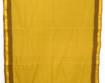 Pure Cotton Vintage Indian Textile Zari Fabric Saree Crafting Drapery Sari TP4102