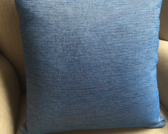 Cushion Cover/Pillow in a gorgeous blue Mokum Upholstery fabric