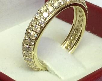 Diamond Wedding Anniversary Ring In 14 K