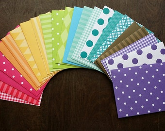 Rainbow Handmade A2 Envelopes