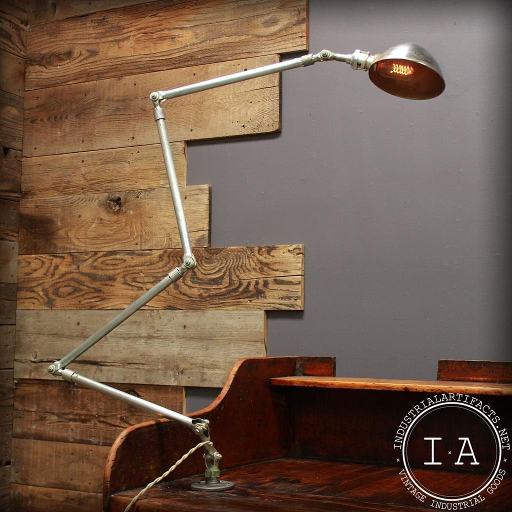Workbench Lights Vintage: Vintage Ajusco Machinist Work Lamp Extra Long Desk Light Task