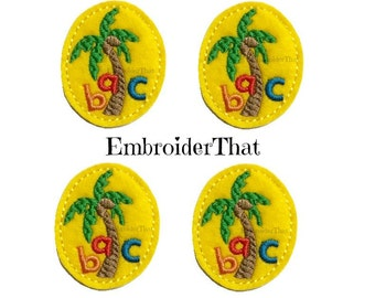 UNCUT ABC Palm tree applique embellishment felties (4)