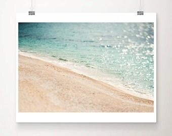 Adriatic ocean photograph aerial beach photograph teal home decor Adriatic ocean print travel photography aerial beach print