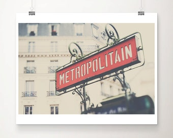 Paris photograph Paris metro photograph Metro sign photograph Paris decor Paris print Paris Metro print Metro Sign print