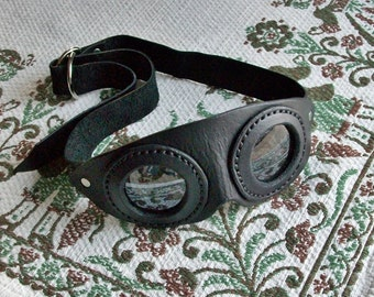 Dieselpunk Steampunk Leather Goggles Cosplay MADE TO ORDER You Choose the specifics